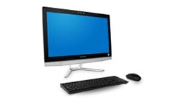 Monitor with wireless keyboard and mouse