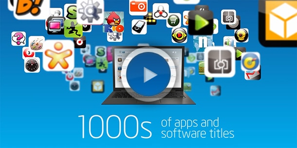 AppUp 1000's of apps and software titles