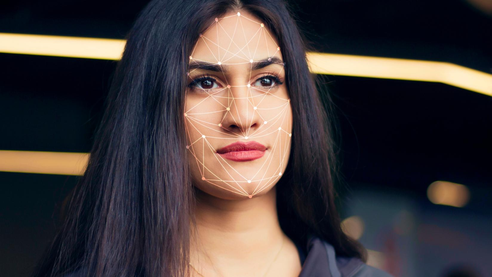 Visualization of facial recognition