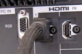 "On my HDTV we're going to use ""HDMI 2"""