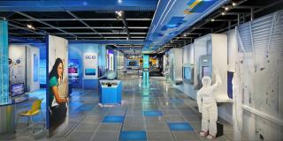 View of inside Intel Museum in California