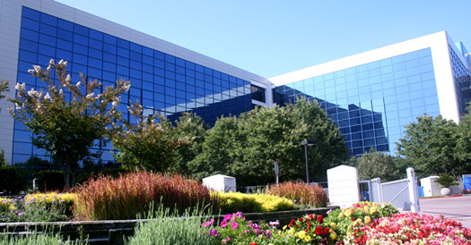 The Robert Noyce Building in Santa Clara is home to the Intel's worldwide corporate headquarters.