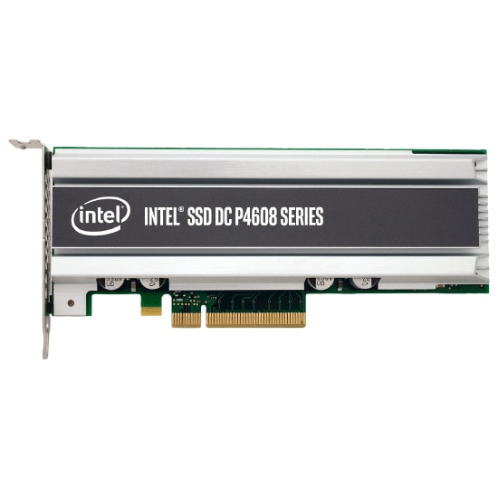 Intel® SSD DC P4608 Series (6.4TB, 1/2 Height PCIe 3.1 x8, 3D1, TLC)