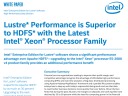 Superior Lustre* Performance with Intel® Xeon® Processors
