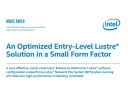 Entry-Level Small Form Factor Lustre* Solution