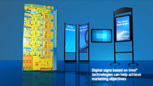 Intel Digital Signs for Retail Banking