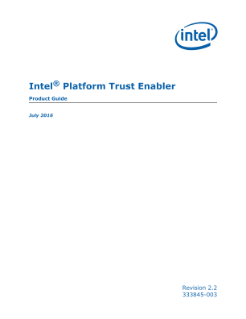 Intel® Platform Trust Enabler | Product Guide