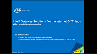 Video: Intel® IoT Gateways Setup IDP and Build OS